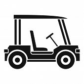 Golf Club Vehicle Icon. Simple Illustration Of Golf Club Vehicle Icon For Web poster