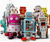 stock photo of 1950s style  - robot toys - JPG