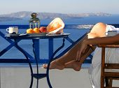 Relaxation with a seaview and fruit plate