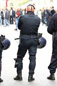Police cordoning