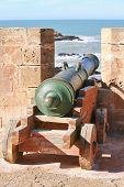 Old cannon in the fortress in Essaouira, Morocco