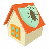 Disinfection House Icon. Cartoon Illustration Of Disinfection House Icon For Web poster