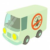 Disinfection Car Icon. Cartoon Illustration Of Disinfection Car Icon For Web poster