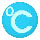 Celsius Icon. Cartoon Illustration Of Celsius Icon For Web poster