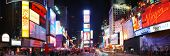 NEW YORK CITY - SEP 5: Times Square, featured with Broadway Theaters and animated LED signs, is a sy
