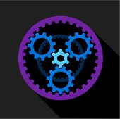 Clockwork Icon. Flat Illustration Of Clockwork Icon For Web poster