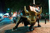NEW YORK CITY - AUG 7: Wall Street Charging Bull, the symbol of aggressive financial optimism and pr