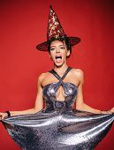 Sexy Young Woman On Halloween Party. Womans Sexual Dress. Halloween Concept With Sexy Witches. 31 O poster