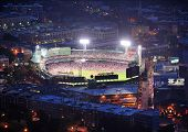 BOSTON, MA - JUN 20: Fenway Park at night on June 20, 2011 in Boston, MA. Fenway Park has served as