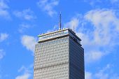 BOSTON, MA - JUN 20: Prudential Tower closeup on June 20, 2011 in Boston, Massachusetts. Prudential Tower stands as the 2nd-tallest building in Boston and 26th in the United States and famous landmark.