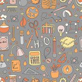 Colored Back To School Pattern With School Elements And Supplies. Welcome Back To School Seamless Ba poster
