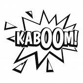 Kaboom, Explosion Icon. Simple Illustration Of Kaboom, Explosion Icon For Web poster