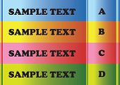 4 Color Bars With Sample Text