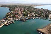 Side city, Turkey. Aerial photography