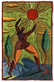 Woman Reaching For The Sun