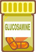 Illustration Of Glucosamine Pills
