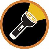 An Illustration Of A Flashlight