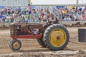Old Rusty Tractor At Tractor Pull
