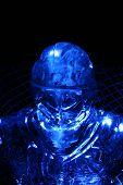Blue Ice Sculpture Goalie