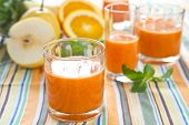 Orange,Pear and Pineapple smoothie