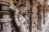 Statues at the Rani Ki Vav Step Well.