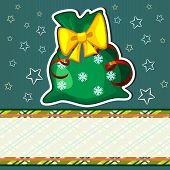 Постер, плакат: Рождественская открытка с мешком