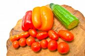 Many Vegetables On A Cutting Board