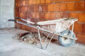 Wheelbarrow In Workplace