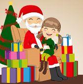 Niña y Santa Claus