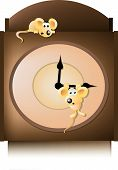 picture of nursery rhyme  - hickory dickory dock the mouse ran up the clock - JPG