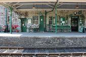 Train Station at Corfe Castle, UK