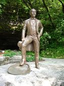 Statue of Jack Daniels at the Jack Daniels Distillery, Lynchburg, Tennessee, USA
