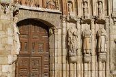 Door Jambs Of San Esteban Church, Burgos. Spain
