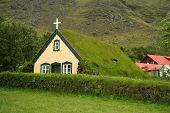 isländischer Turf Kirche