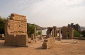 stock photo of aswan dam  - A view of the Temple of Philae near Aswan on the Nile - JPG