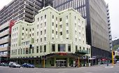 Wellington, New Zealand - Mar 1St: The Art Deco Waterloo Hotel On March 1St 2012. The Hotel Housed T