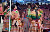 Vietnamese rural people at a local market in Bac Ha, Sa Pa, Vietnam