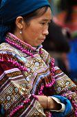 Vietnamese rural people at a local market in Bac Ha, Sa Pa, Vietnam