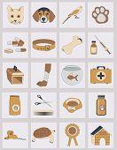 foto of bag-of-dog-food  - set of veterinary vector icons - JPG