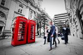 picture of phone-booth  - Business life concept in London - JPG