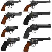 picture of revolver  - Layered vector illustration of isolated collected Revolver - JPG
