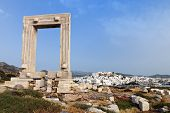 Gate of Naxos island in Greece