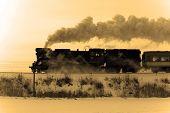 Antiguo tren de vapor Retro