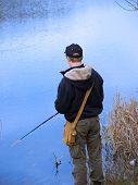 Young Angler Fishing