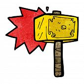 picture of thors hammer  - cartoon hammer of thor - JPG