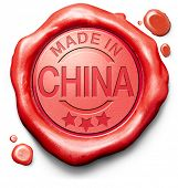 made in China original product buy local buy authentic Chinese quality label red wax stamp seal