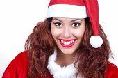 Beautiful Woman Wearing Santa Clause Costume