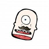 Cartoon-Zyklop-Kopf
