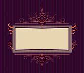 Royal Purple Ornate Turn Of The Century Frame