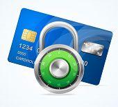 Security Card Concept. Vector padlock